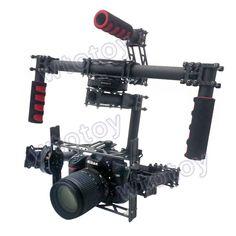 DSLR, 3-axis Brushless Gimbal , Handle Camera Gimbal [ store.helivideopros.com ] #camera #gimbal #film