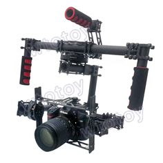 DSLR, 3-axis Brushless Gimbal , Handle Camera Gimbal [ store.helivideopros.com ] #camera #gimbal #film