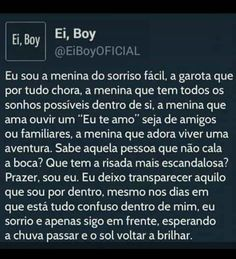 Frases/textos/memes/ Brownie brownie e moore Sad Love, Love You, Sad Girl, Some Words, Good People, Love Of My Life, Positive Vibes, Sentences, Me Quotes