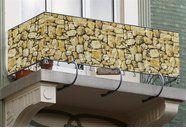 Balkon-Sichtschutz »Steinmauer«