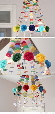 Polish Paper Chandelier by The Small Object via Art For Kids, Crafts For Kids, Arts And Crafts, Diy Craft Projects, Projects To Try, Paper Chandelier, Paper Party Decorations, Paper Art, Paper Crafts