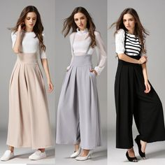 2017 Limited Linen Lulu Leggings Women's Pants Spring And Summer New High Waist Suspenders Wide Leg Trousers For Women Culottes #Affiliate