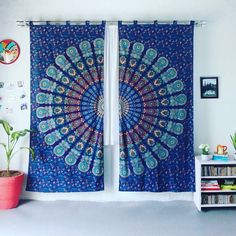 An awesome way to style our mandala tapestries. @vivi_and_sam #bohostyle #homedecor #christmas #curtains #tribal #bohemian #mandala #zen #mindfulness #meditation #giftideas #shopsmall #florida