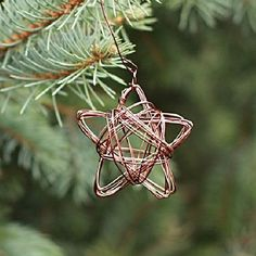 These beautiful wire star ornaments look beautiful on the tree and make a unique gift.