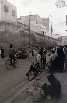 Casablanca les  années 60.. Les remparts de l'ancienne Medina