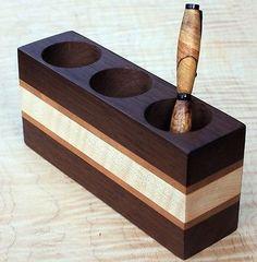 Handicraft Junction Manufacturer present you handmade beautiful piece of wooden crafted pen stand.