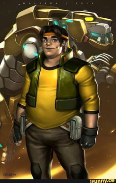 Hunk and Yellow Lion from Voltron Legendary Defender Hunk Voltron, Form Voltron, Voltron Klance, Voltron Comics, Thundercats, Shiro, Power Rangers, Hunk Garrett, Robot Lion