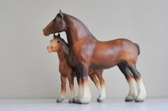 Vintage Breyer Clydesdales / Draft Horses Foal and by TheWildPlum, $32.00