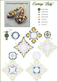 Схемы: Серьги Леди- схема