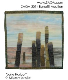 Art quilt by Mickey Lawler #SAQA #artquilts