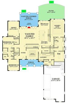 Plan Country Craftsman House Plan With Optional Second Floor Country Craftsman House Plan With Optional Second Floor – floor plan – Main Level Craftsman House Plans, Country House Plans, Dream House Plans, House Floor Plans, Country Houses, Craftsman Style, Architectural Design House Plans, Architecture Design, Courtyard Entry