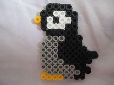 Penguin perler beads by PerlerHime Easy Perler Bead Patterns, Melty Bead Patterns, Perler Bead Templates, Diy Perler Beads, Perler Bead Art, Beading Patterns, Kandi Patterns, Peyote Patterns, Melty Beads Ideas