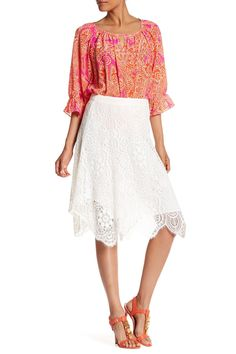 Aiden Crochet Lace Knit Skirt by Trina Turk on @nordstrom_rack