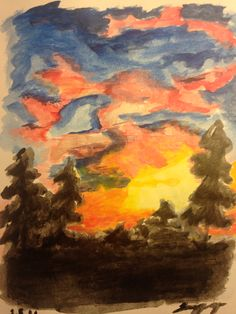 Attempted sunset painting ☀️