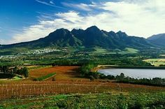 """The Somerset West skyline is dominated by the Helderberg mountain. The town is actually build """"around"""" or at the foot of the mountain and the Helderberg Nature Reserve. Provinces Of South Africa, Somerset West, Africa Destinations, Namibia, Out Of Africa, Nature Reserve, Africa Travel, Cape Town, Beautiful Landscapes"""
