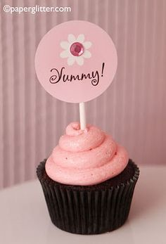 Yummy cupcake toppers and many more--lots of free printables at this site for many occasions and holidays