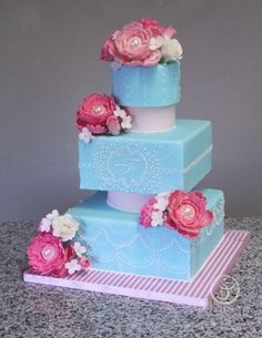Wedding Cake by Abbey McCarty made as part of The French Pastry School's L'Art du Gâteau program.