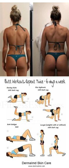 Workout for bigger butt - Butt workout repeat twice 6 days a week Butt workout repeat twice 6 days a week Butt workout repeat - Bigger Bum Workout, Hip Workout, Workout Videos, Bubble Butt Workout, Workout Fitness, Summer Body Workouts, Body Workout At Home, At Home Workouts, Butt Workouts