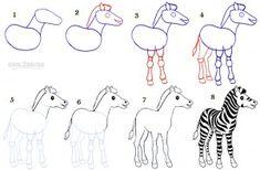 How To Draw a Zebra Step by Step