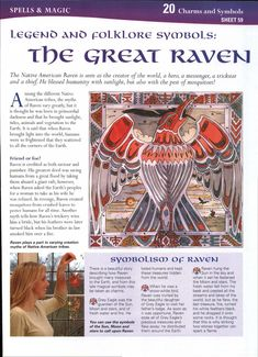 Legend and Folklore Symbols: The Great Raven