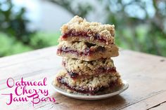 Oatmeal Jam Bars    It's Chuck Williams of Williams-Sonoma's 98th Birthday today!! See this handsome photo  from the W-S blog . Seems fit...