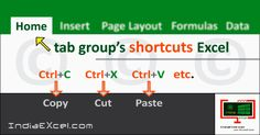 Home tab groups button shortcuts Microsoft Excel 2016 - http://indiaexcel.com/home-tab-groups-shortcuts-buttons-ms-excel/