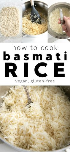 Easy, foolproof method for cooking light and fluffy Perfect Basmati Rice on your stovetop. Vegan and gluten-free. Basmati Rice Recipes, Cooking Basmati Rice, Cooking Rice, Rice Side Dishes, Best Food Ever, Healthy Eating Recipes, Cooking Light, Vegetable Dishes, Side Dish Recipes