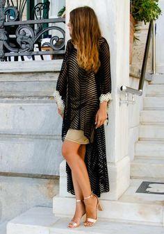 aa55109a320a Φόρεμα τουνίκ Fia maxi ασύμμετρο  fashionista  dress  girls  mystyle   outfit