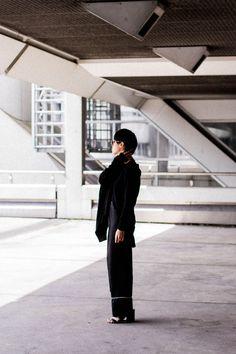 Rismat by Y's / Yohji Yamamoto Knitwear - All black everything look by IheartAlice.com