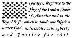 Pledge of Allegiance In Shape of American Flag 50 Stars Vinyl Decal for Truck Car SUV Jeep by SharisVinylEmporium on Etsy