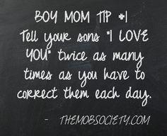 Boy Mom Tip #1