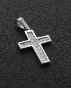 Βαπτιστικός Σταυρός δυο όψεων Λευκόχρυσος Κ14