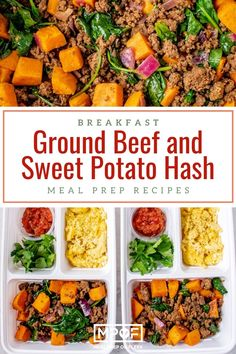 Taco Seasoned Ground Beef and Sweet Potato Hash - Meal Prep on Fleek™