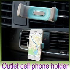 Automobile air-conditioning outlet cellular phone support Car navigator bracket Suitable for a variety of electronic products