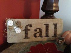 DIY 'fall' plaque.