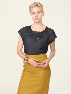 mustard is my fall fashion goal. Pencil skirt!