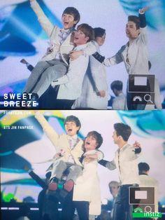 의외의 조합인 것 같은 오늘자 남자아이돌 92라인 친목 | 인스티즈 -- 92line (BTS Jin, B1A4 sandeul, VIXX Ken)