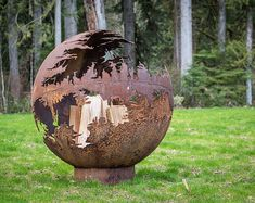 Death Star Fire Pit - Star Wars fans check out this plasma cut fire pit. Steel Fire Pit for Sale, Outdoor Fire Pit Art, Plasma Cut Natural Gas Fire Pit, Large Metal Garden Globe Fire Pit, Fire Ring Fire Pit Fuel, Fire Pit Art, Steel Fire Pit, Wood Burning Fire Pit, Fire Pit Globe, Fire Pit Wayfair, Fire Pits For Sale, Diy Outdoor Fireplace, Natural Gas Fire Pit