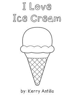 *FREE* I Love Ice Cream Mini-Book- featuring sight words: love, with & on