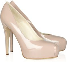Brian Atwood Maniac patent-leather platform pumps