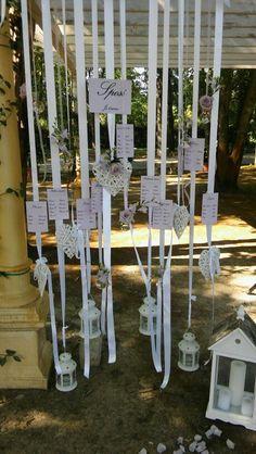 Tableu#invitati#wedding#idea#volante#volare#cuori#lanterne#tiamointuttelelingue#