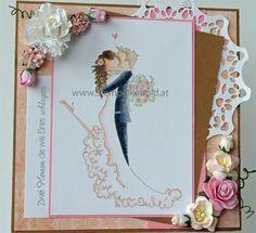 Hochzeitskarte - Material zu finden unter: www.stempelkobold.at Girlfriends, Stamping, Material, Scrapbooking, Weddings, Frame, Girls, Card Wedding, Stamps