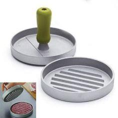 Kitchen Hamburger Press Patty Mold Maker Pounder Metal Machine 12cm/4.8inch Drop Shipping