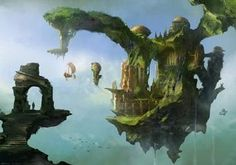 I find something so inspiring about airships and floating islands . . . left over, no doubt, from my early discovery of Roger Dean :)