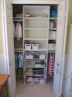 A clean kid's closet is every parent's dream!