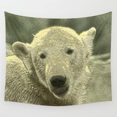 Buy Metal, Society 6 Tapestry, Polar Bear, Wall Tapestry, Vivid Colors, Picnic Blanket, Animals, Animales, Animaux