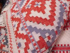 More images of textiles from the Transylvania dowry bed More Images, Moldova, Romania, Folk Art, Needlework, Weaving, Auction, Museum, Textiles
