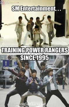 Super Junior as Power Rangers wanna be!^^