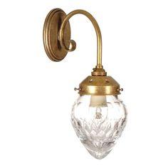 Glass Shade Light   Orfila Elegant Brass Wall Light   Jim Lawrence