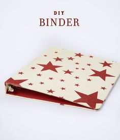 """Right for the time """"Back to School!"""" - DIY Binder from Midori Designer Gift Wrap. How to make > http://www.midoriribbon.com/binder/"""